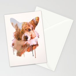 Corgi Forest Stationery Cards