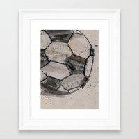 soccer Framed Art Prints featuring soccer by hello kaja