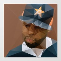 j dilla Canvas Prints featuring J DILLA by David