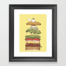 It's Burger Time! Framed Art Print