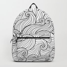 White Wave Backpack
