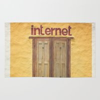 internet Area & Throw Rugs featuring Internet by Nina's clicks