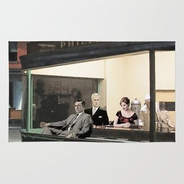 mad men characters are Hopper's Nighthawks Rug
