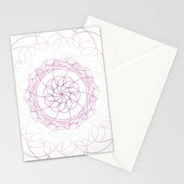 Lesbian Pride Spirograph Stationery Cards