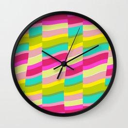 MULTI COLOURED STRIPE Wall Clock