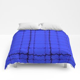 jagged, blue Comforters