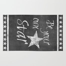 Be your own star chalkboard Typography Rug