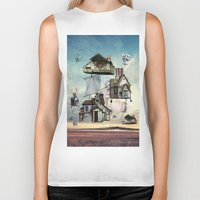 house Biker Tanks featuring house by Кaterina Кalinich