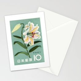 1961 JAPAN Lily Postage Stamp Stationery Cards