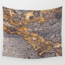 Gold Inlay Marble II Wall Tapestry