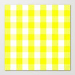 Vichy jaune Canvas Print