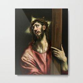 "El Greco (Domenikos Theotokopoulos) ""Christ with the Cross"" Metal Print"