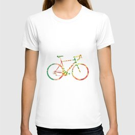 tie dye bicycle T-shirt