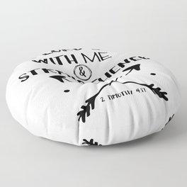 Strength Bible Verse Typography Floor Pillow