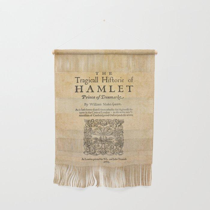 Shakespeare, Hamlet 1603 Wall Hanging