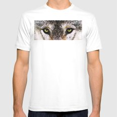 Wolf Eyes - Animal Art By Sharon Cummings White MEDIUM Mens Fitted Tee