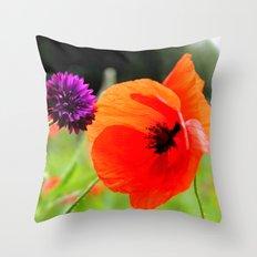 wild poppies Throw Pillow