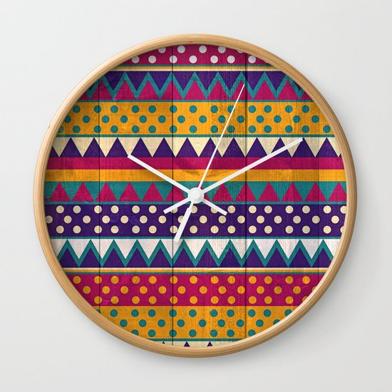 Mexican Pattern Wall Clock