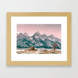 Grand Tetons Barn Framed Art Print