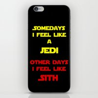 sith iPhone & iPod Skins featuring Feel Like Sith by Kramcox