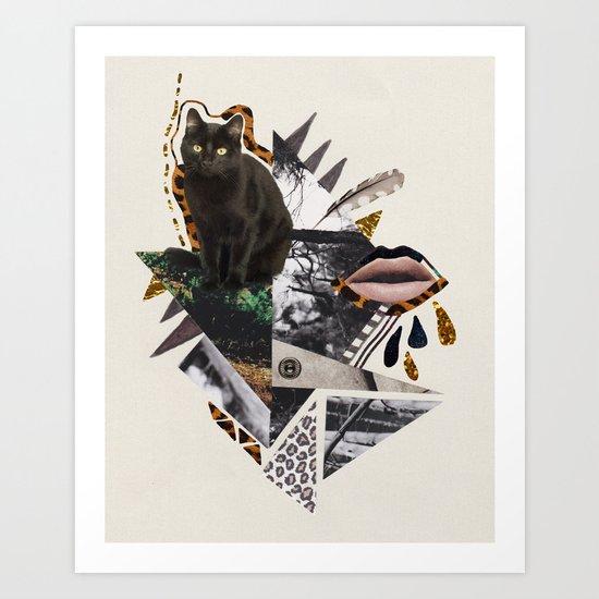 AYAHUASCA CAT Art Print