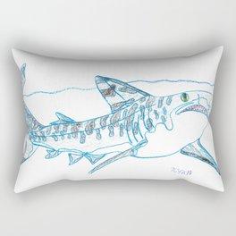 Tiger Shark II Rectangular Pillow