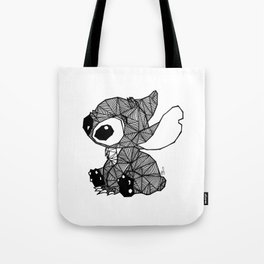 Geometric Stitch Tote Bag