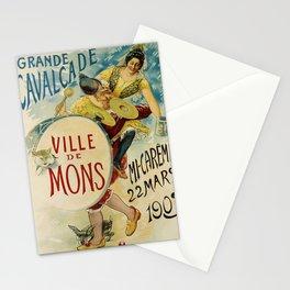 Affiche grande cavalcade   ville de mons. 1903  Stationery Cards