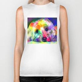 Colorful Yorkie By Annie Zeno  Biker Tank