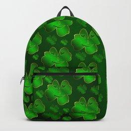 funny, laughing, shamrocks, green, st patricks day, shiny, gold, face, smile, shamrock Backpack
