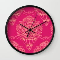 damask Wall Clocks featuring Damask by cactus studio