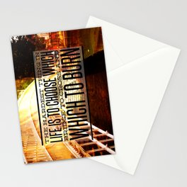 Which Bridge To Cross and Burn Stationery Cards