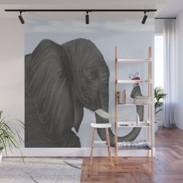 Bertha The Elephant And Her Visitor Wall Mural