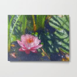 Monet Style Water Lily Metal Print