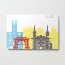 Aosta skyline pop Metal Print