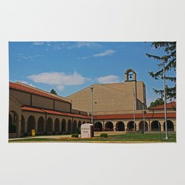 Lourdes University-  Franciscan Center in the Spring II Rug