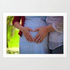 Expectant Parents Art Print