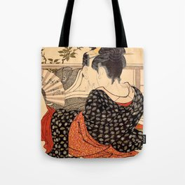 Lovers in an Upstairs Room Tote Bag