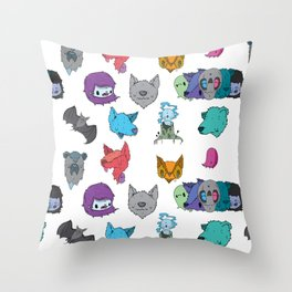 Nicky Davis Pattern  Throw Pillow