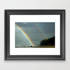 Mussenden Rainbow Framed Art Print