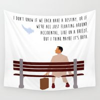 forrest Wall Tapestries featuring Forrest Gump by Christina