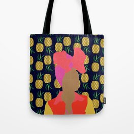 Pineapple Bawse Babe (Blue) Tote Bag
