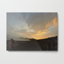 Sunset will set and mist will rise Metal Print