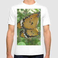 Butterfly mirror Mens Fitted Tee White MEDIUM