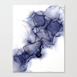 Purple Wispy: Original Abstract Alcohol Ink Painting Canvas Print
