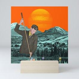 Design a space where your story can happen (orange version) Mini Art Print