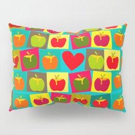 Apple and Heart Pillow Sham