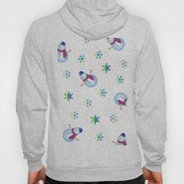 Snowflakes & Snowman_F Hoody