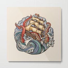 The Kraken Metal Print
