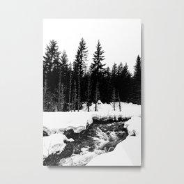St. Helens Snowshoe + River Metal Print